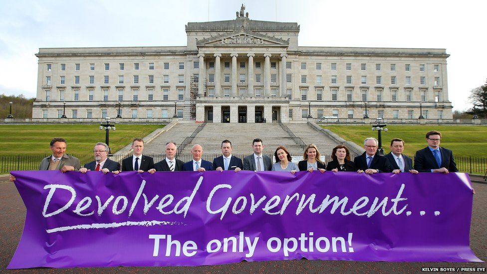 Business and civic society leaders at Stormont