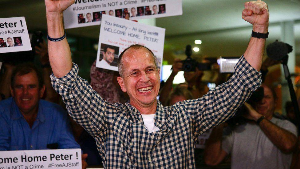 Australian journalist Peter Greste