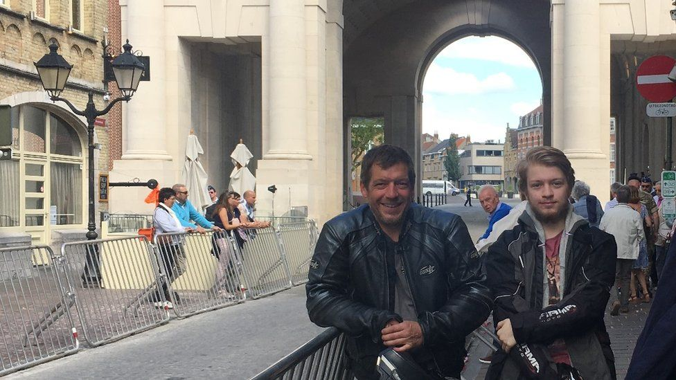 Phil Seeley and his son and Luke travelled to Ypres to find out more about his father Herbert, who fought at Passchendaele