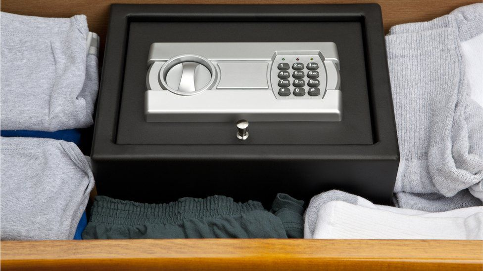 Safe in sock drawer