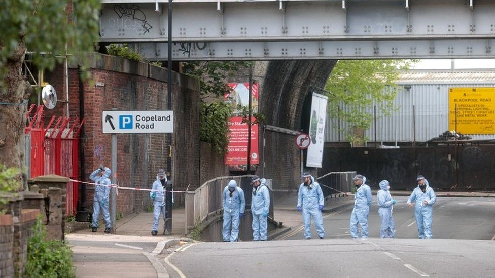 Forensic officers on Peckham
