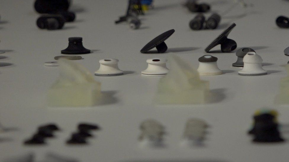 Microsoft engineers scanned thousands of ears to test different shapes for its in-ear headphones