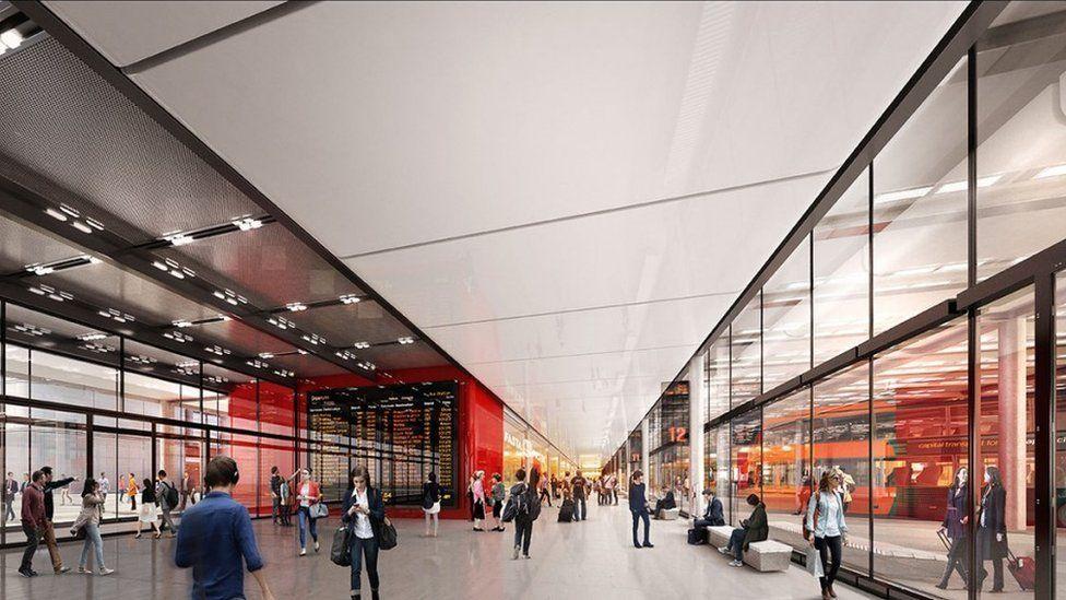 Main concourse for interchange, impression