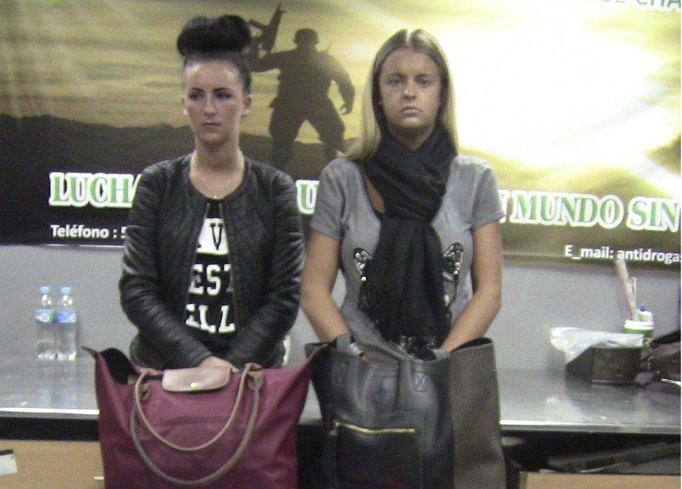Michaella McCollum and Melissa Reid during their arrest