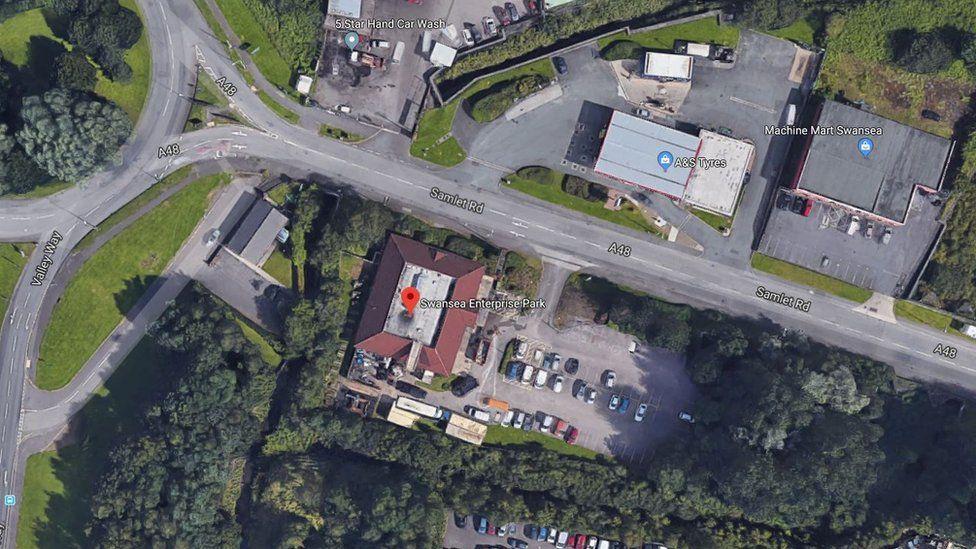 Google Maps: Swansea Enterprise Park