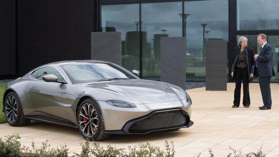 Theresa May meets Aston Martin chief executive Andy Palmer