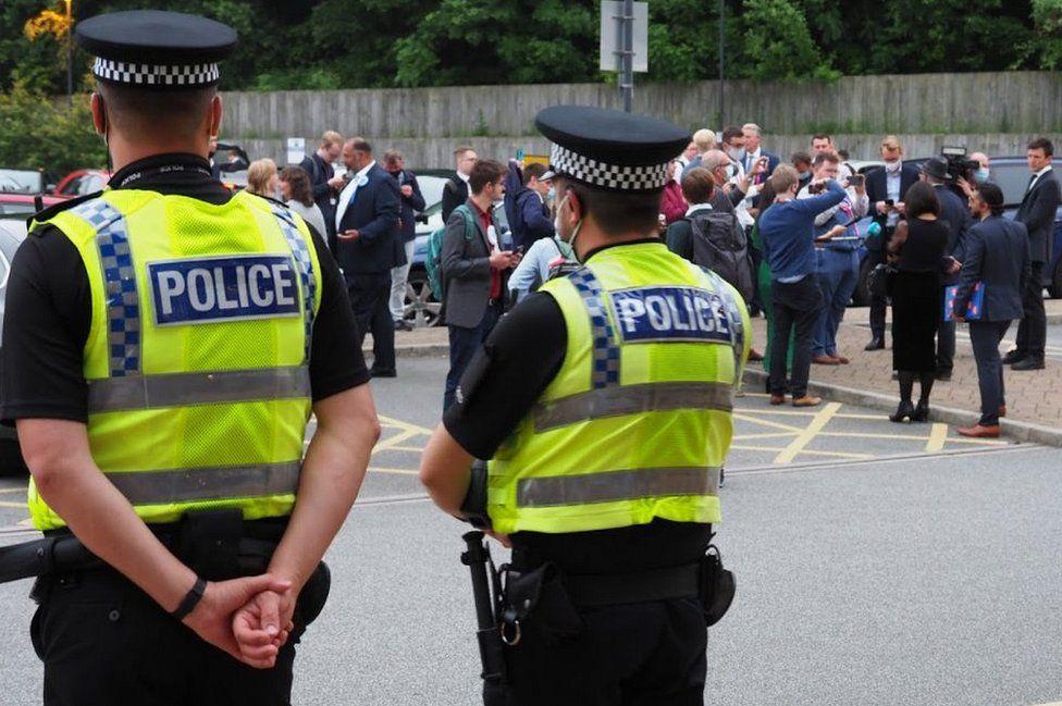 Police outside