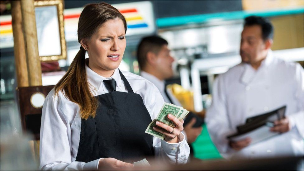 In countries like the United States, tips form a substantial part of workers' wages