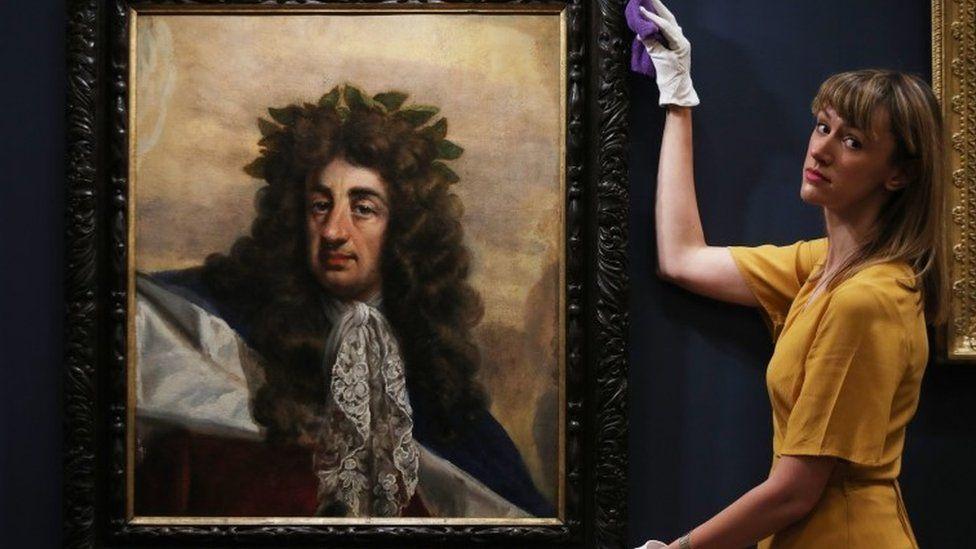A portrait of Charles II