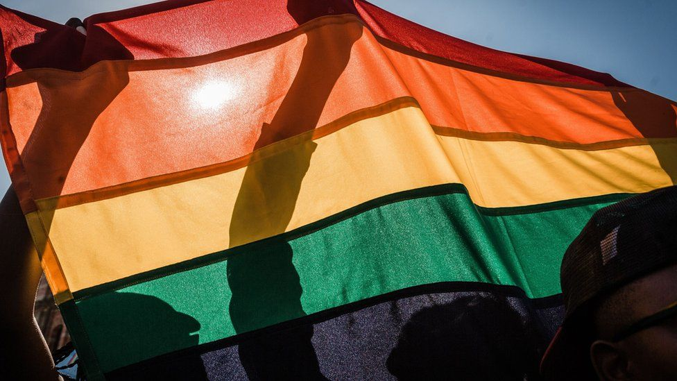 Rainbow flag at Durban Pride Festival