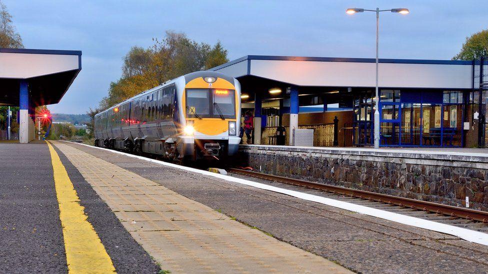 Ballymena train station in Northern Ireland