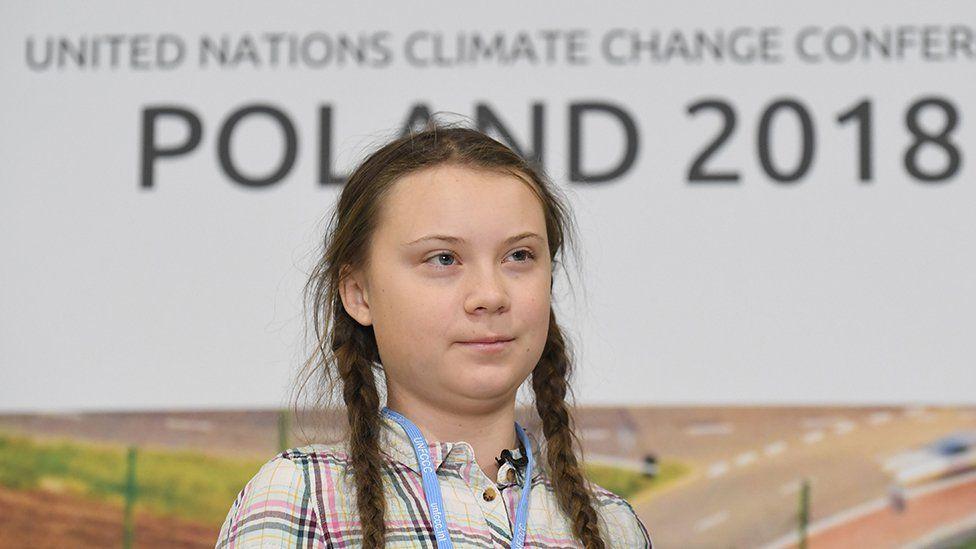 Greta Thunberg at Katowice last year