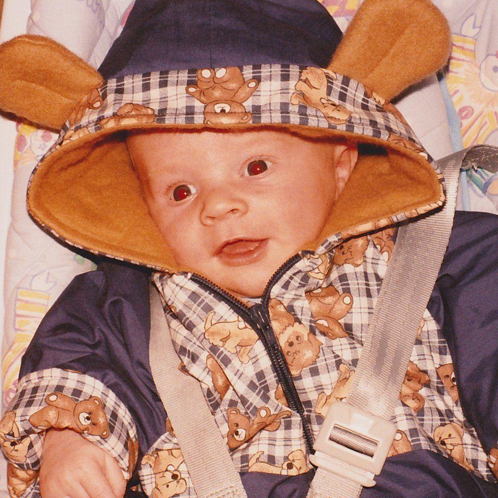 Alex as a baby