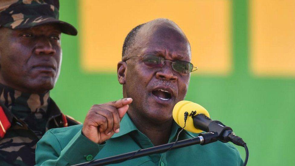 Le président Magufuli lors d'un rassemblement électoral en août 2020