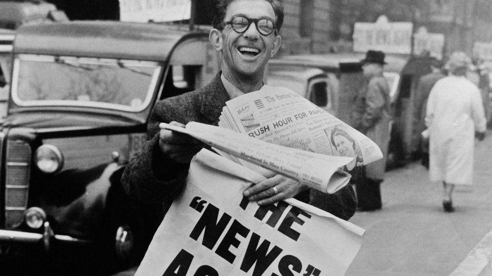 Newspaper seller