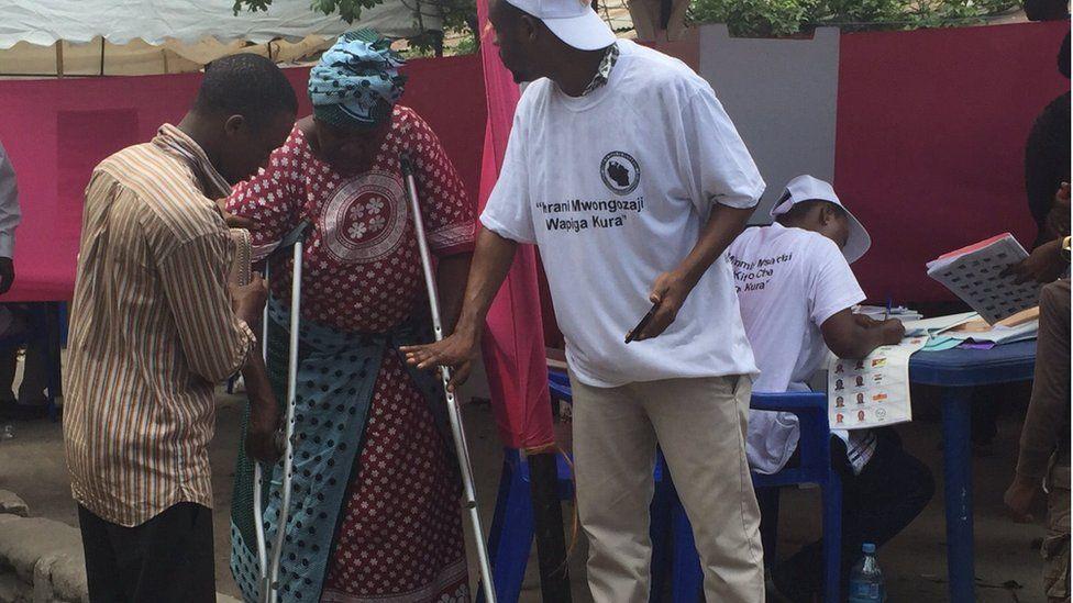 Voter in Tanzania