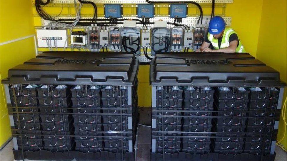 Classroom plant room batteries