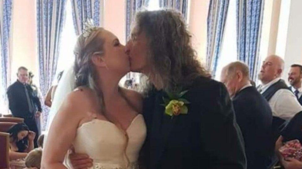 Caroline Saunby and husband Victor