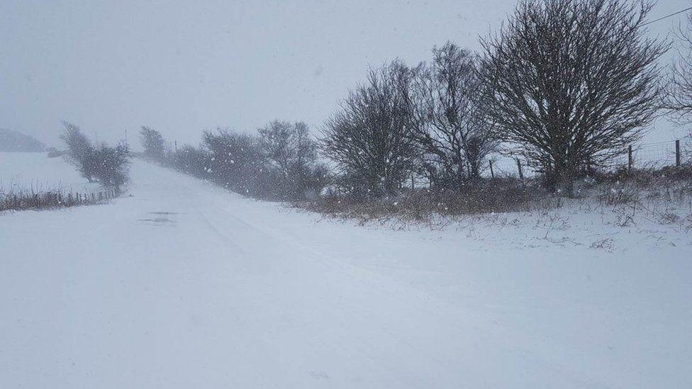 A453 under snow