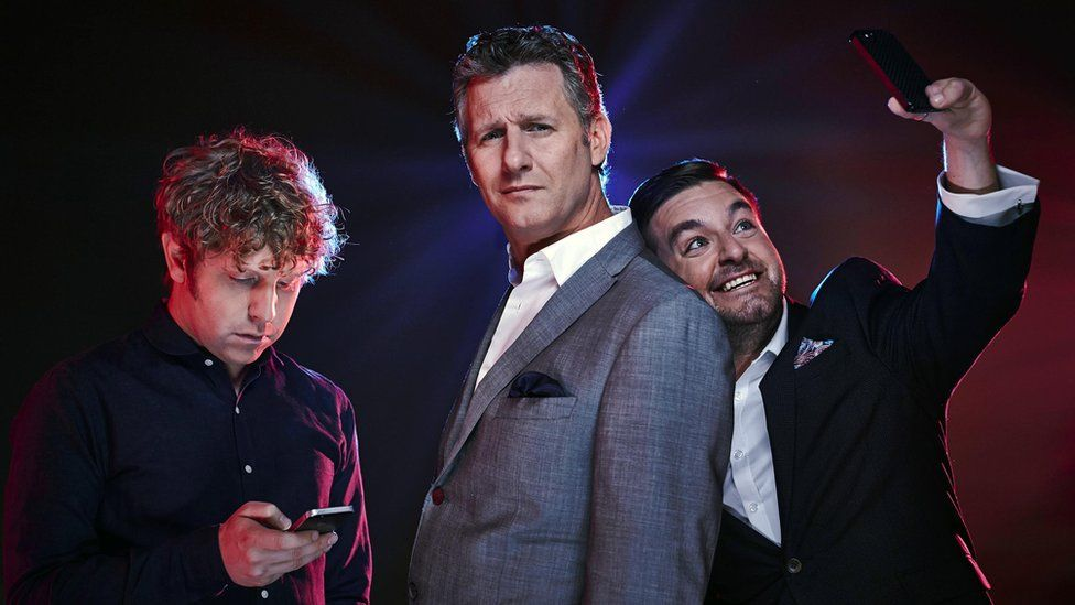 Josh Widdicombe, Adam Hills and Alex Brooker