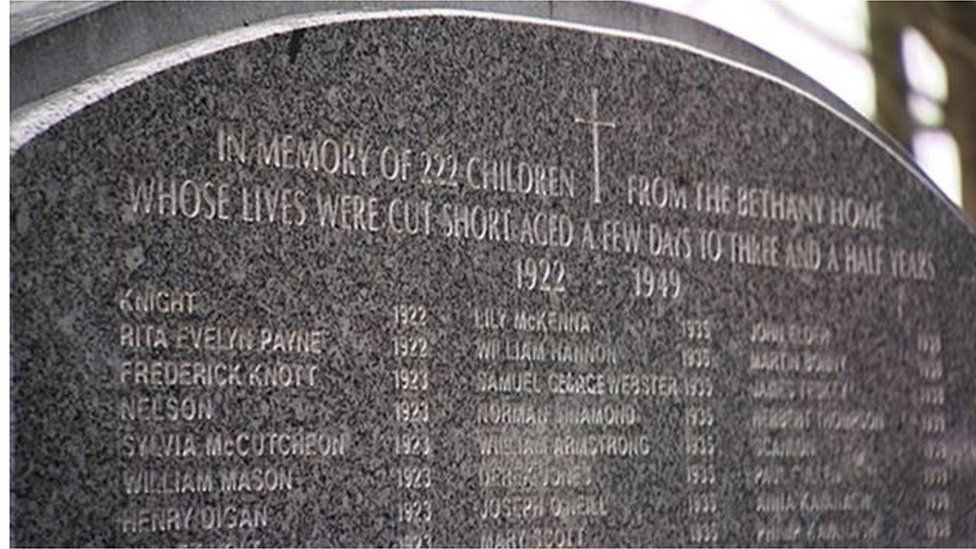 Bethany Home memorial
