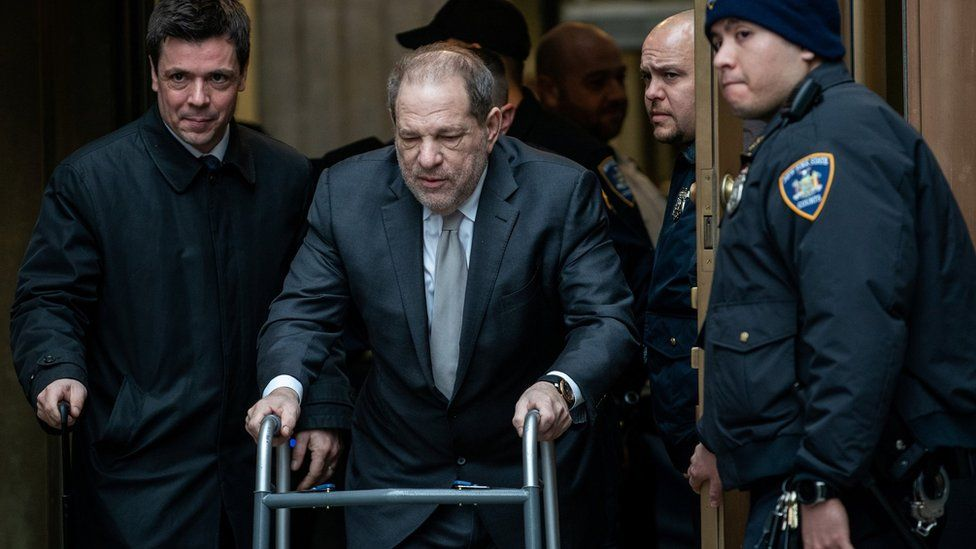 Film producer Harvey Weinstein departs New York Criminal Court after his ongoing sexual assault trial in the Manhattan borough of New York City, New York, U.S., January 13, 2020
