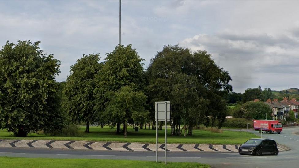 Slattocks Roundabout in Middleton