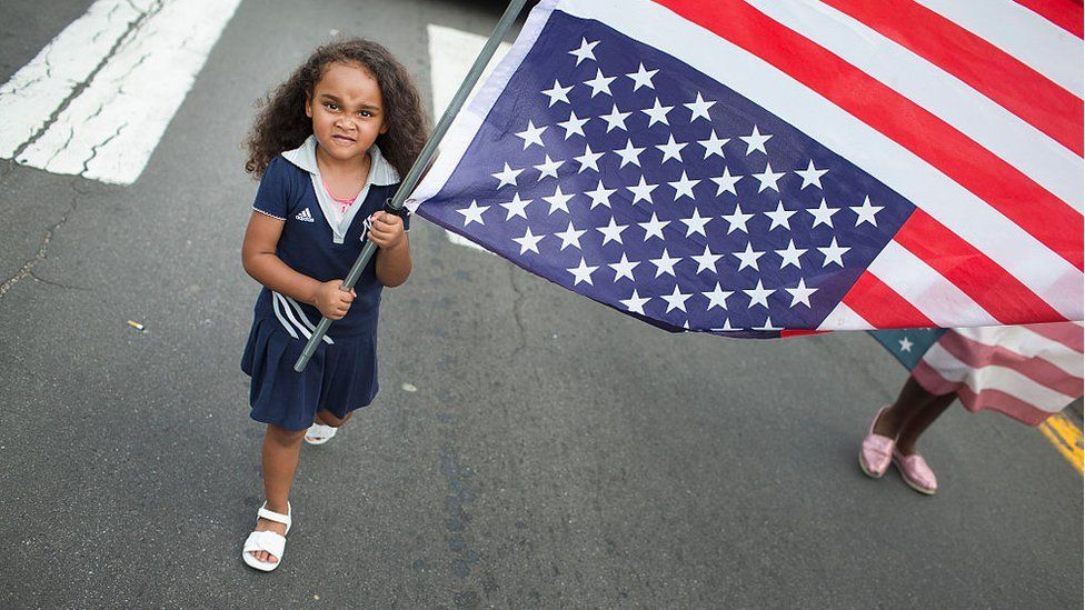 A young girl in Ferguson, Missouri.