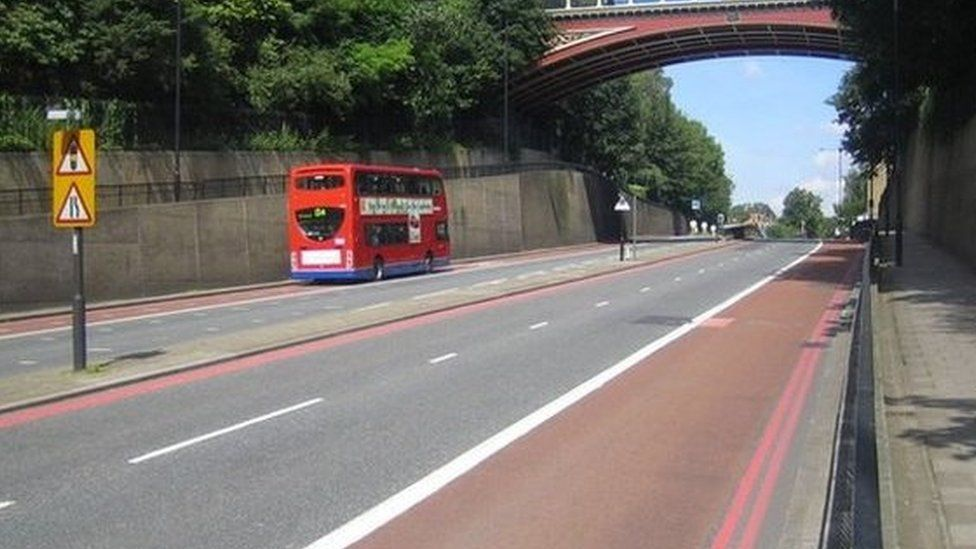 Red route in London