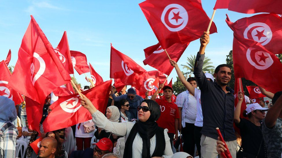 Campaign rally in Monastir, Tunisia, 7 September 2019.