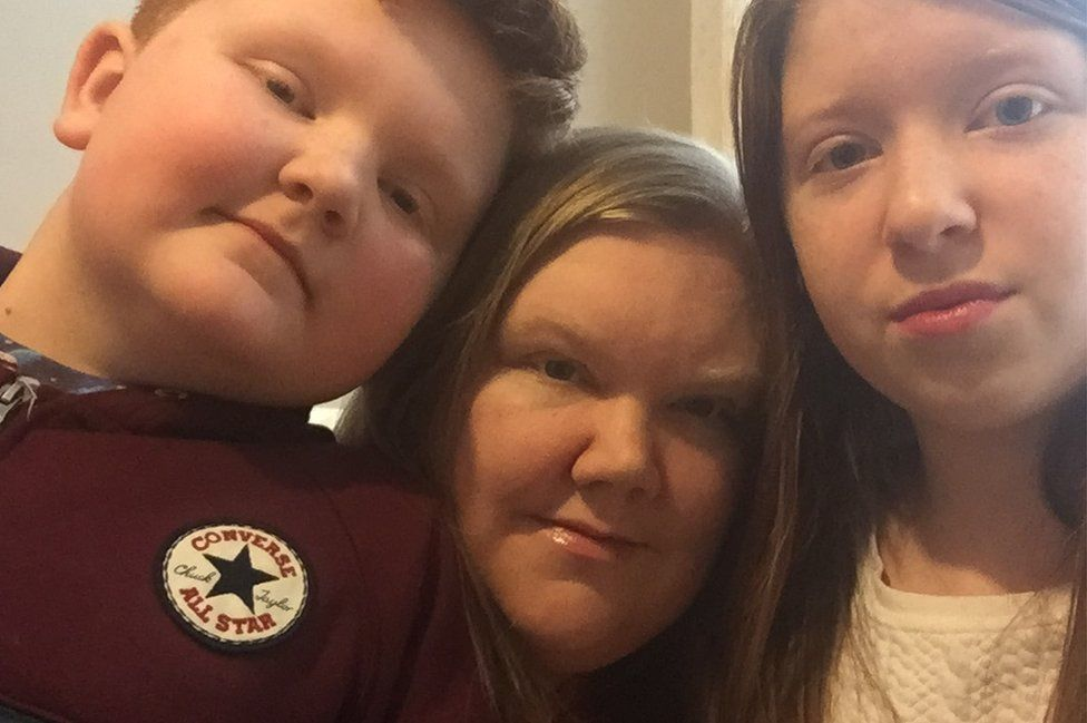 Cass Bailey and her children