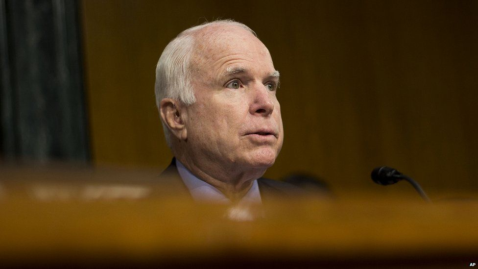 John McCain, chairman of the Senate Armed Services Committee