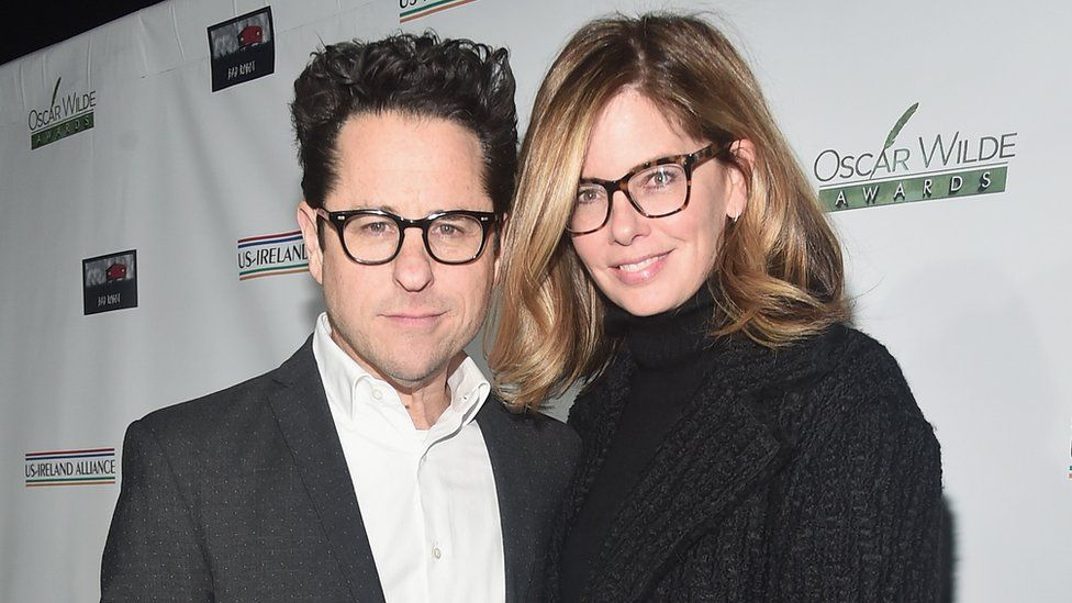 JJ Abrams pictured last month with wife Katie McGrath