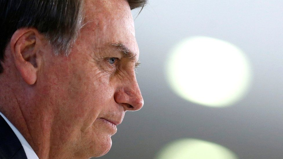 Brazil's President Jair Bolsonaro in Brasilia, Brazil, on 9 August 2019