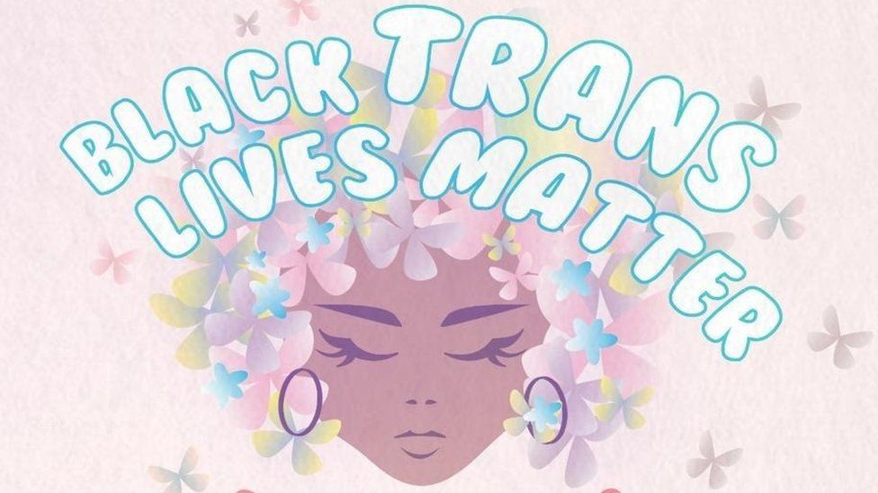 A cartoon for Black Trans Lives Matter