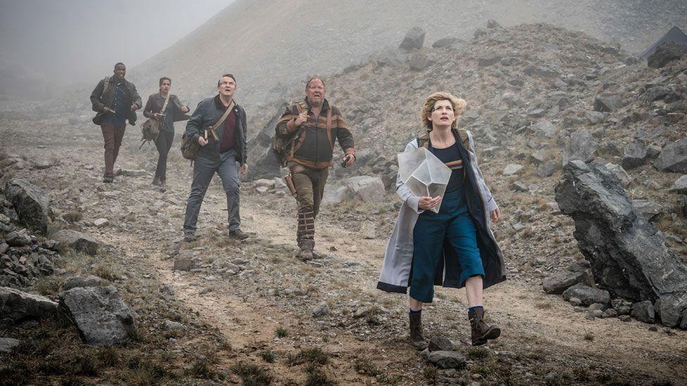 Jodie Whittaker (right) in a scene from The Battle of Ranskoor Av Kolos