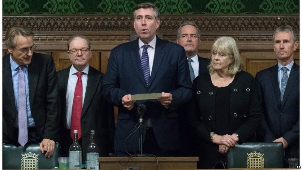 Graham Brady announces result of confidence vote in Theresa May in December 2018
