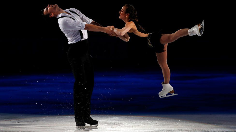 Meagan Duhamel and Eric Radford of Team North America perform during an exhibition on day 3 of the 2016 KOSE Team Challenge Cup at Spokane Arena on April 24, 2016 in Spokane, Washington.