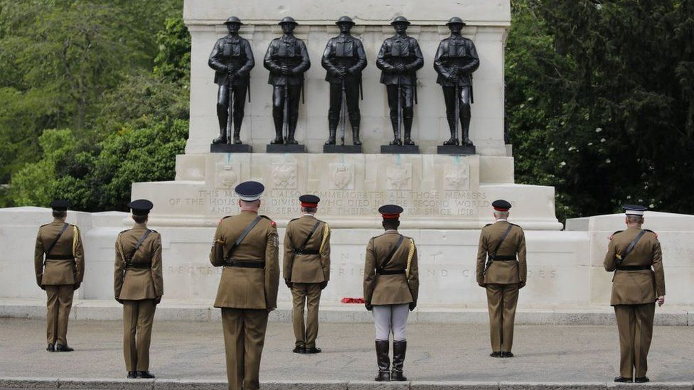 The Household Division on VE day 75th anniversary