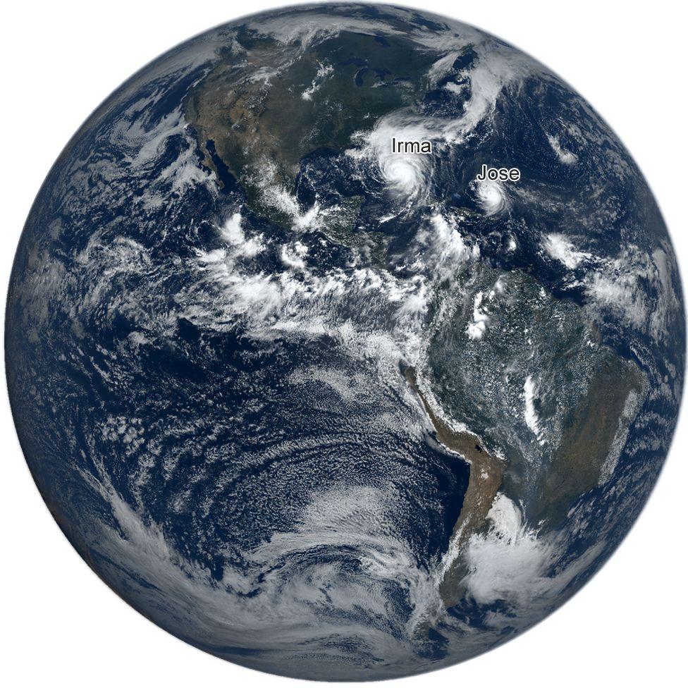 Satellite image of Hurricane Irma, 10 September