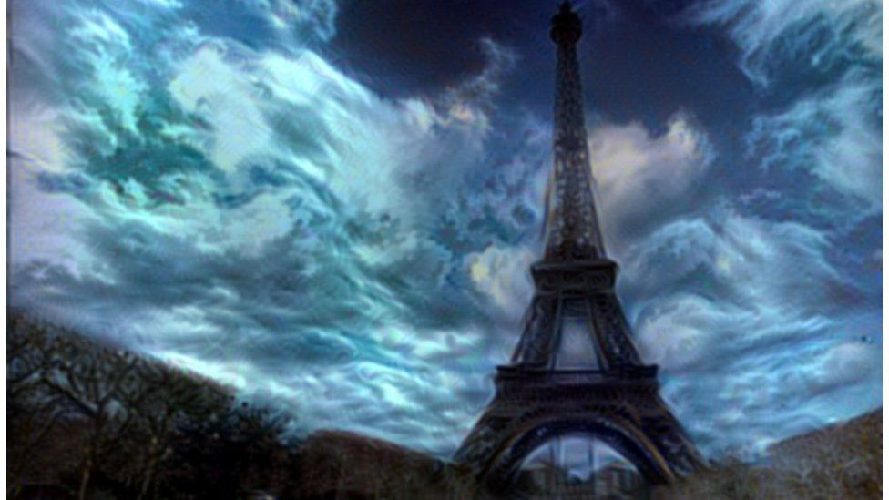 Eiffel Tower using MIT algorithm
