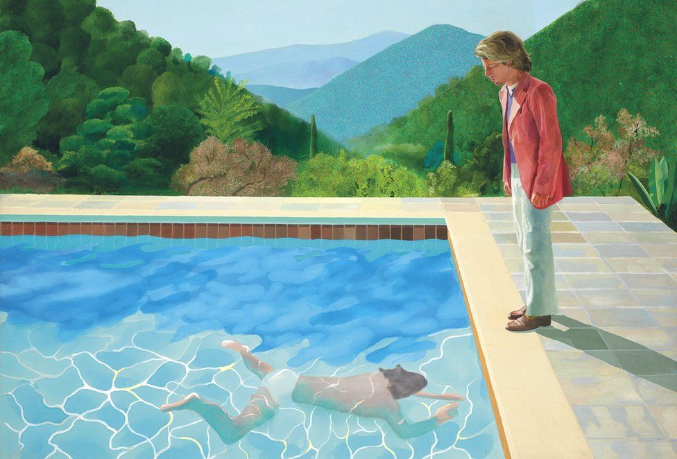 Auction of David Hockney's Portrait of an Artist (Pool with Two Figures)