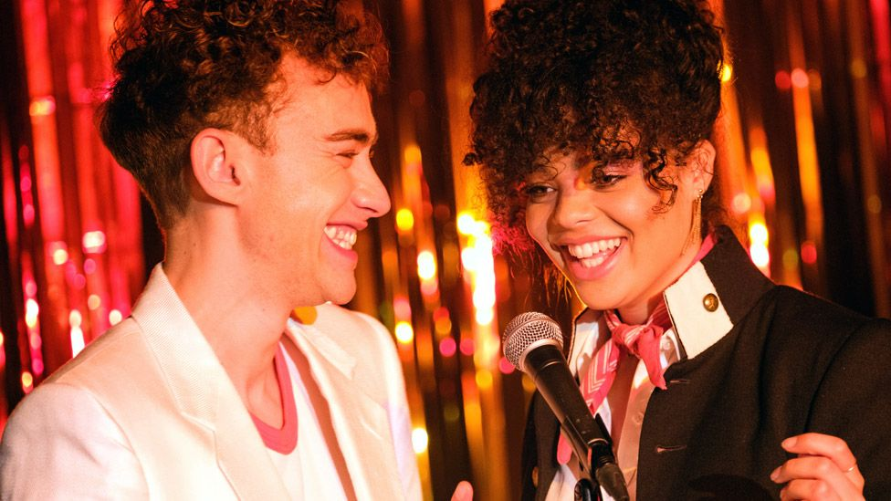 Olly Alexander (left) and Lydia West in It's A Sin
