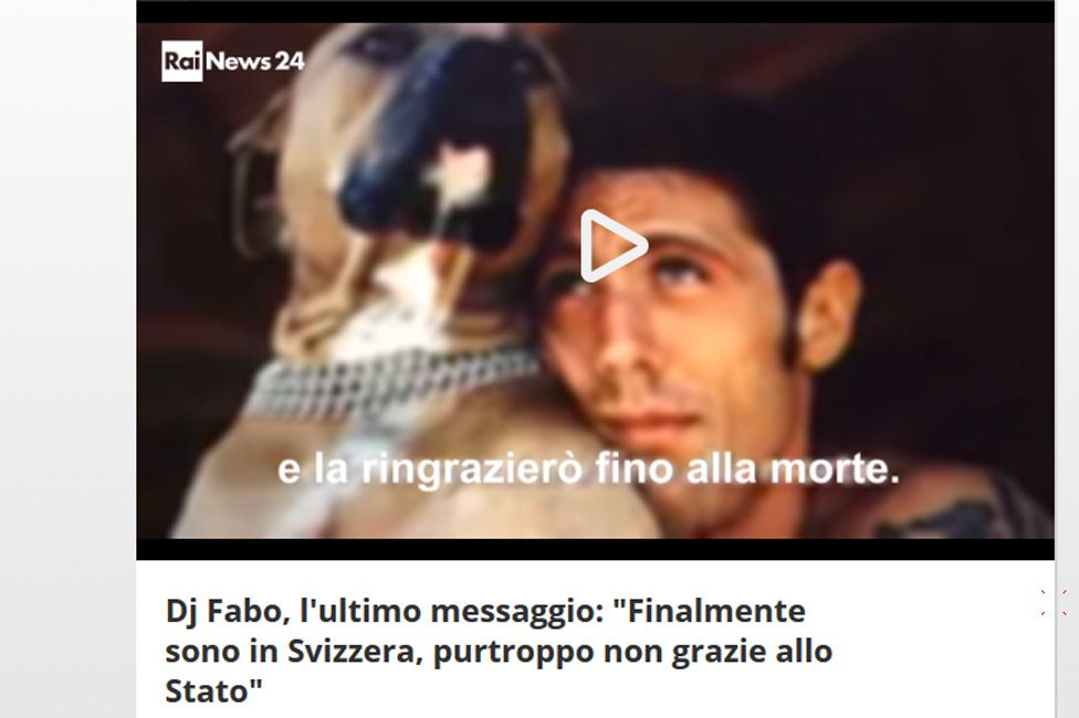 "Rai 24 website published audio of DJ Fabo's ""last message"""