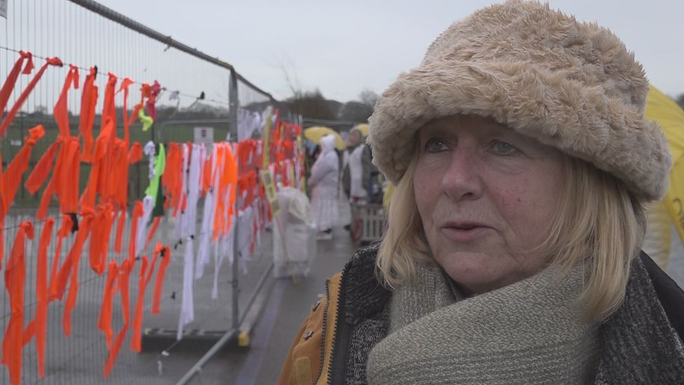 Barbara Richardson did not think the protest against fracking would take so long