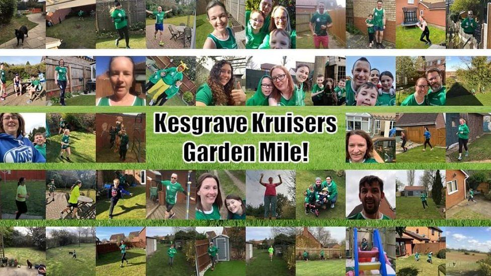 Collage of runners