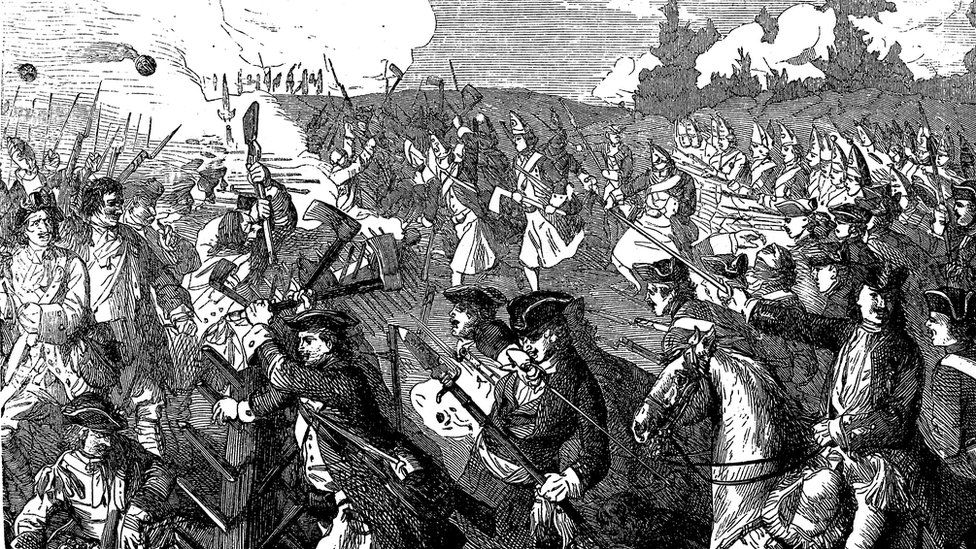Drawing of the Spanish succession