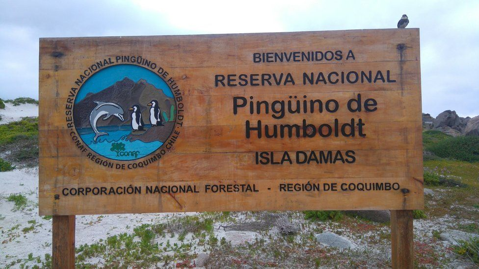 Sign welcoming visitors to the Humboldt National Reserve