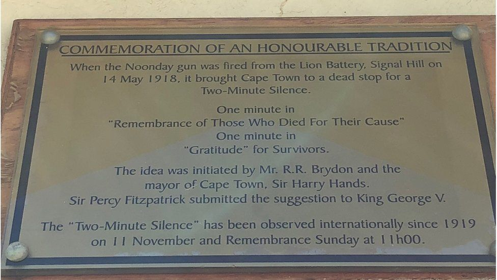 plaque in South Africa