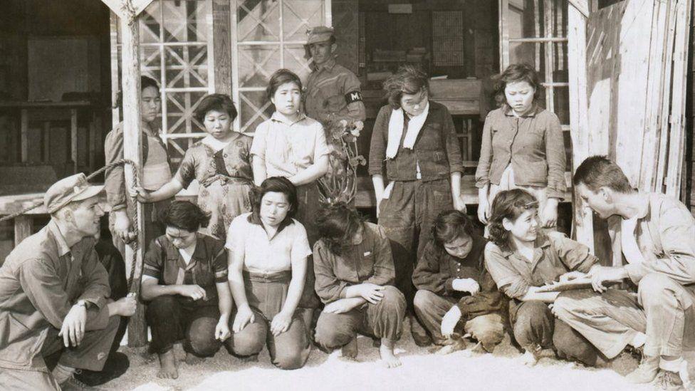 Liberated Comfort Women on Okinawa during World War Two